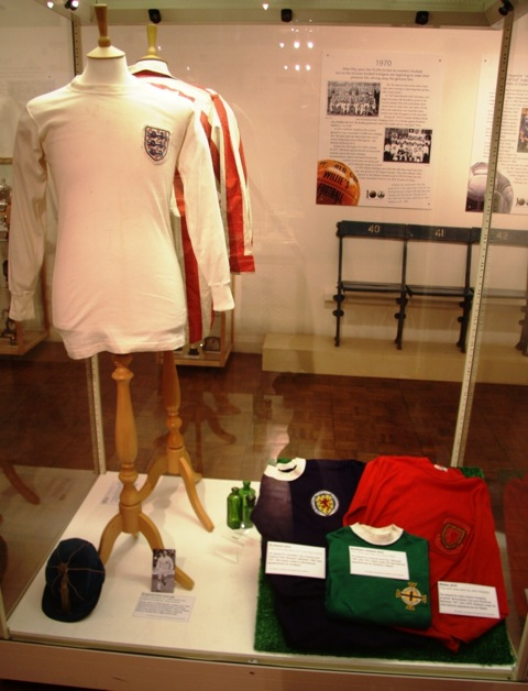 Terry Paine England shirt and Cap and the three international shirts of Roberts, McLintock and Neil.